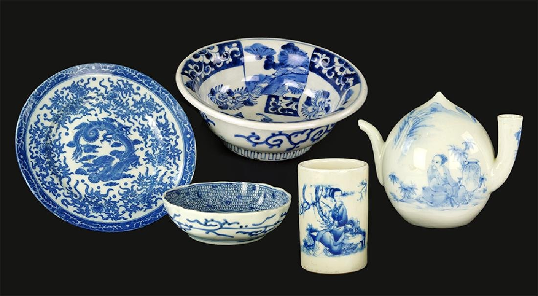 A Collection of Asian Blue and White Porcelain.