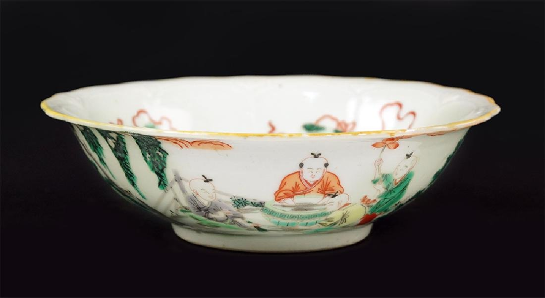 A Chinese Famille Verte Porcelain Bowl.
