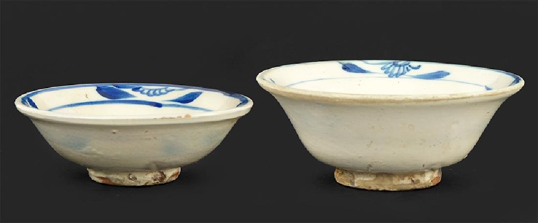 Two Chinese Blue And White Porcelain Bowls.
