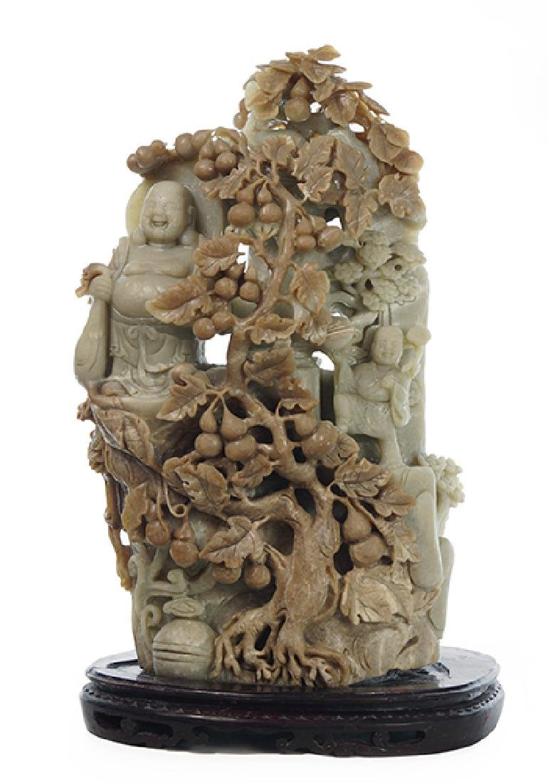 A Chinese Soapstone Carving.