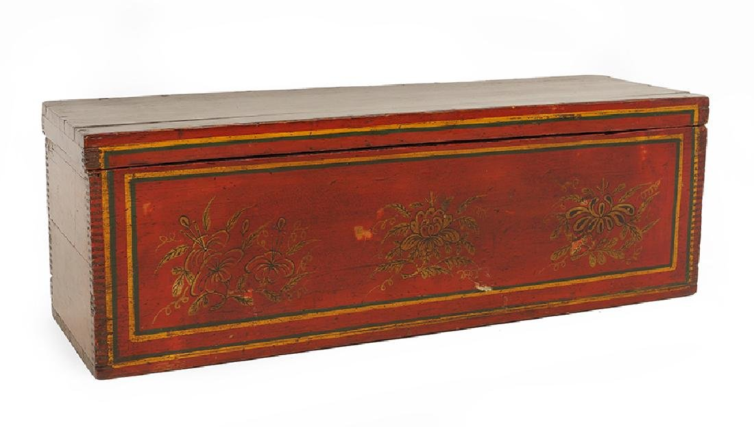 A Chinese Wooden Calligraphy Box.
