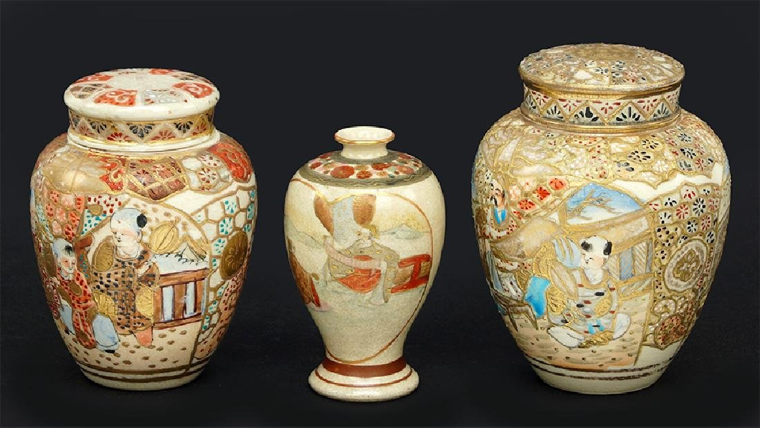 A Collection Japanese Satsuma Ware.