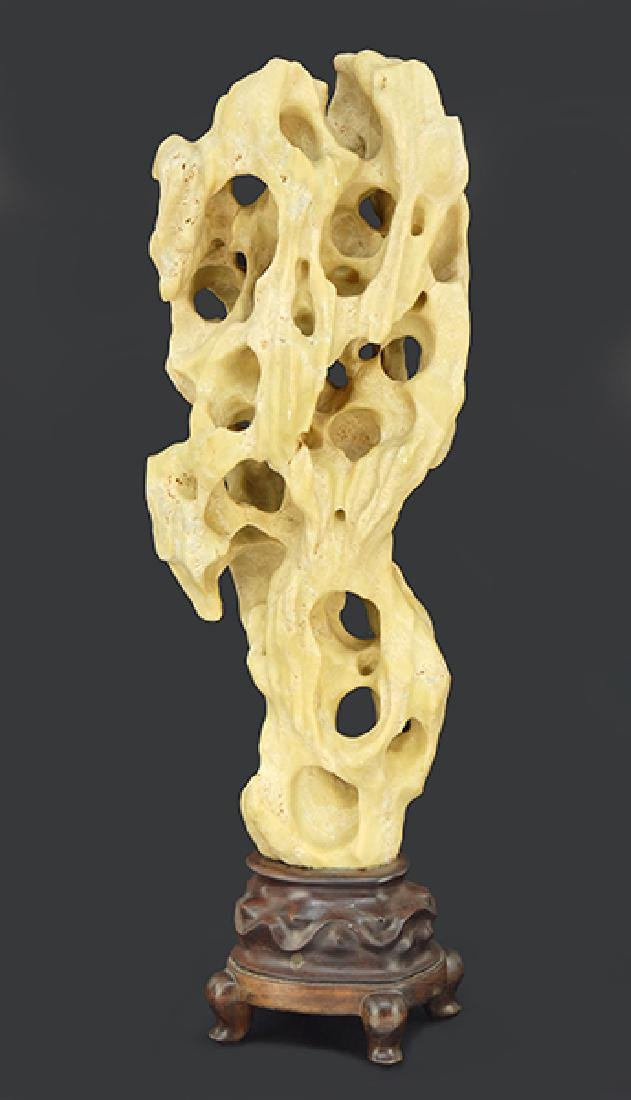 A Chinese Carved Bone Scholar's Object.