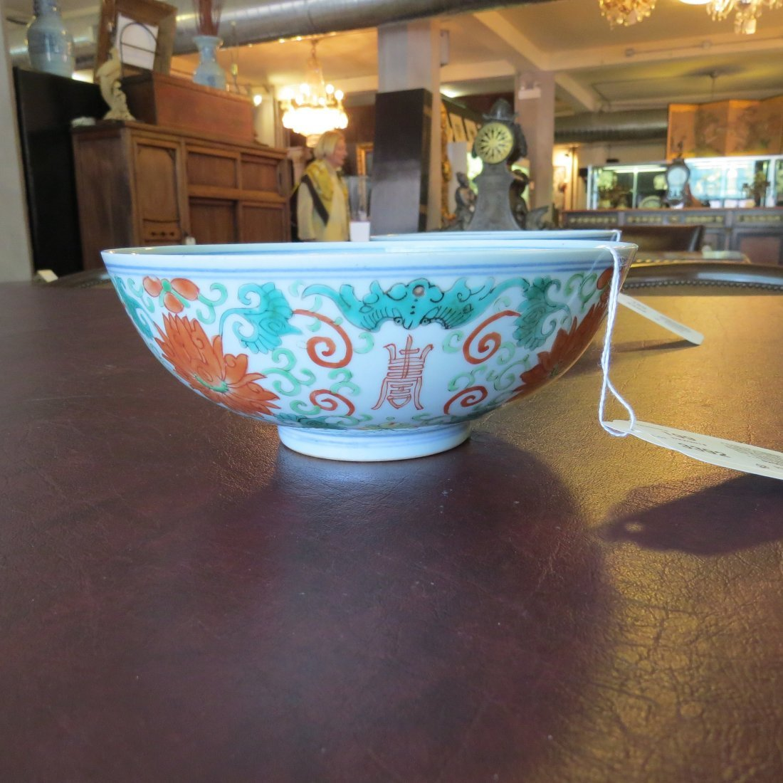 A Pair of Chinese Famille Verte Porcelain Bowls. - 3