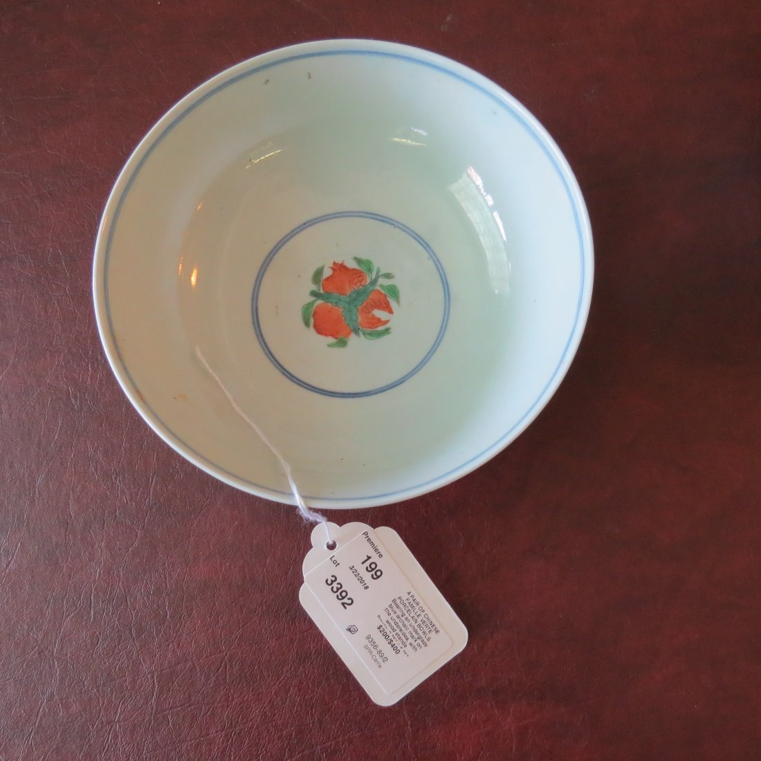 A Pair of Chinese Famille Verte Porcelain Bowls. - 4