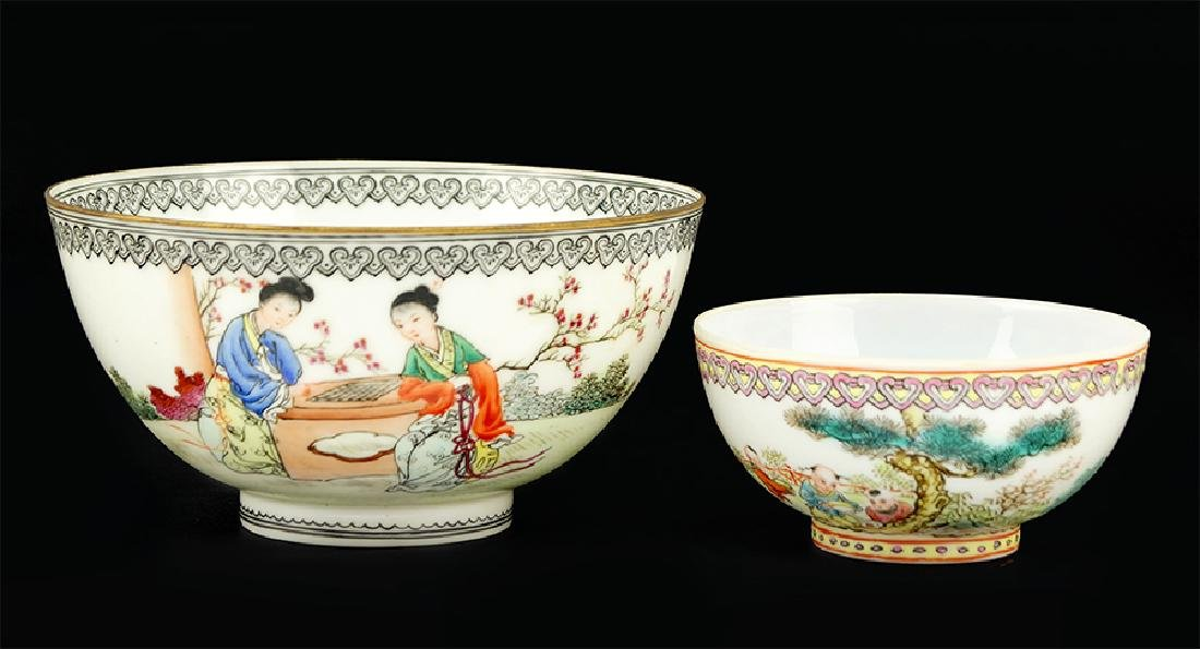 Two Chinese Export Eggshell Porcelain Cups.