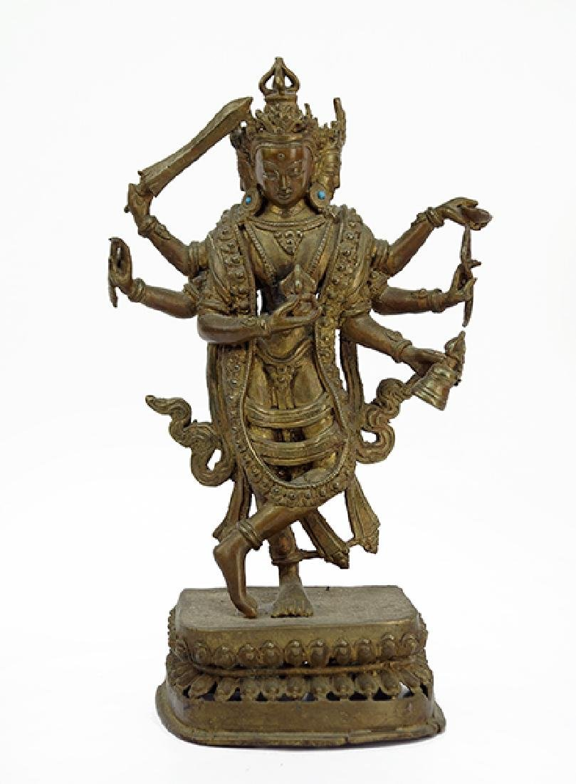 A Gilt Bronze Figure of Vasudhara.