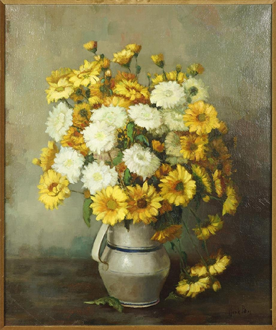 Henk Bos (Dutch, 1901-1979) Yellow and White Mums.