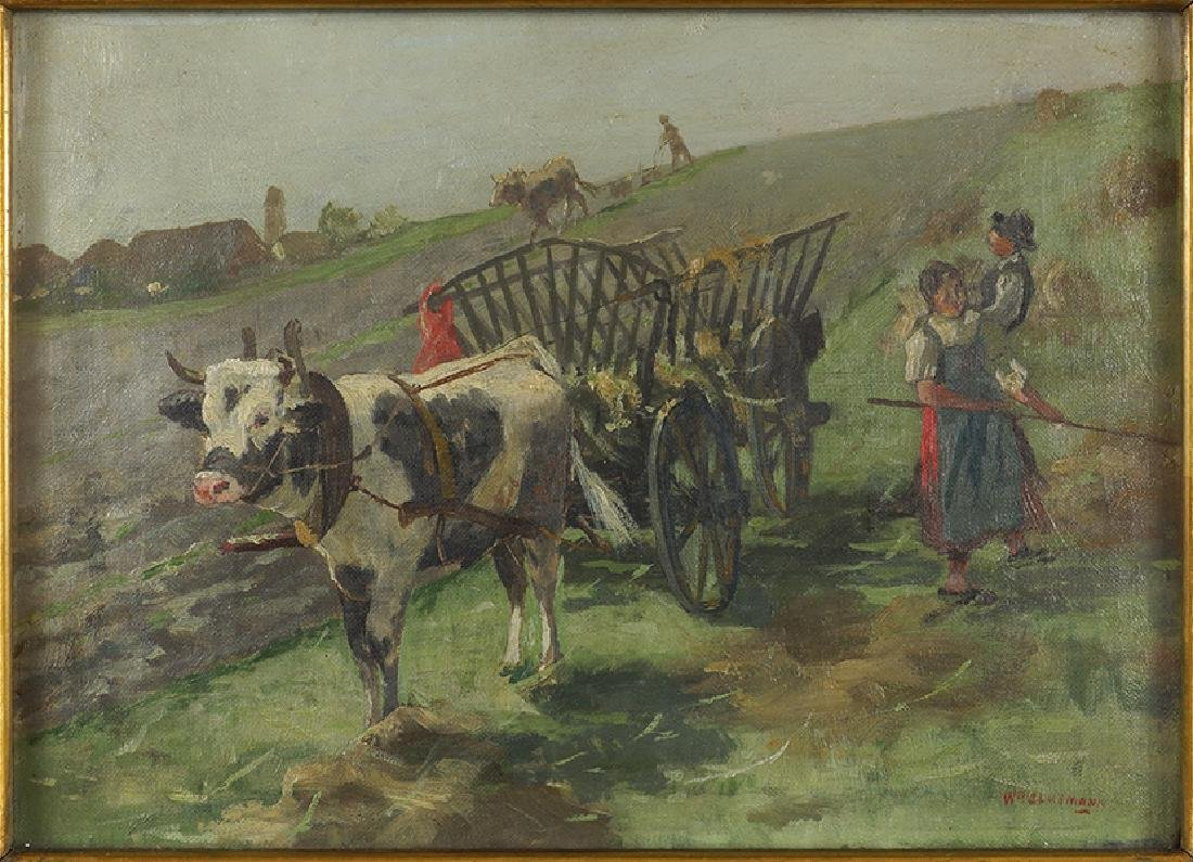 William Clusmann (American, 1859-1927) Making Hay.