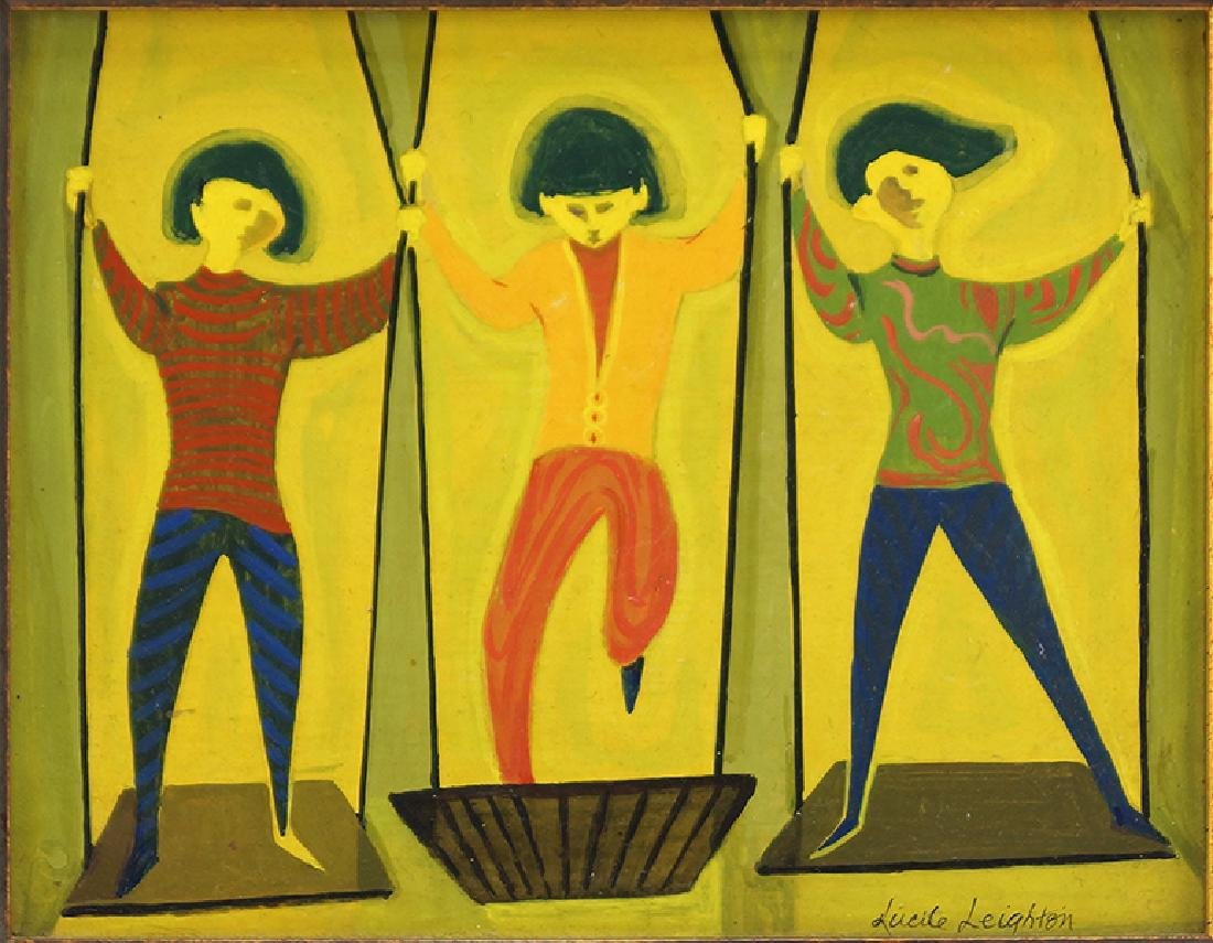 Lucile Leighton (American, 1911-1983) Swings.