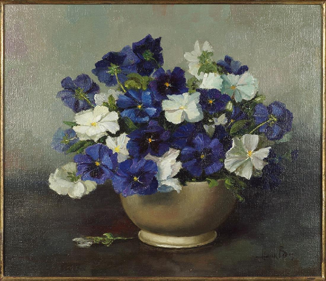 Henk Bos (Dutch, 1901-1979) Violets.