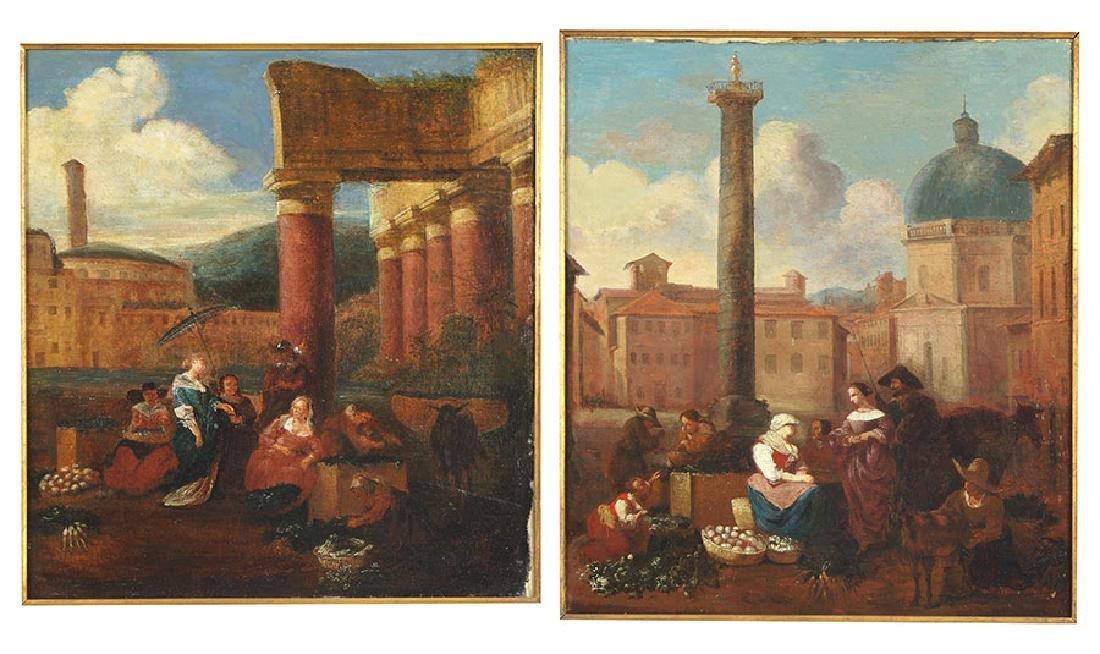 Artist Unknown (Italian, 18th Century) Market Among