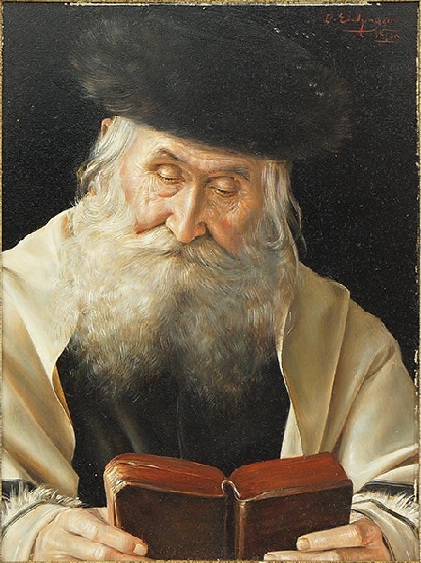 Otto Eichinger (Austrian, 1922-2004) Rabbi Reading.