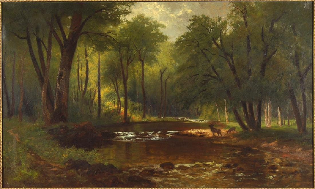 Nicolay Tysland Leganger (American, 1832-c. 1905) River