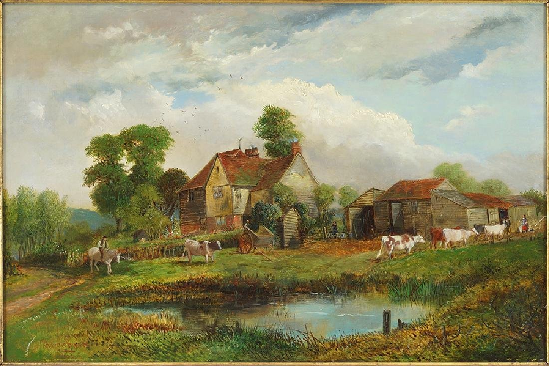 Edward Adveno Brooke (British, 1821-1910) When the Cows