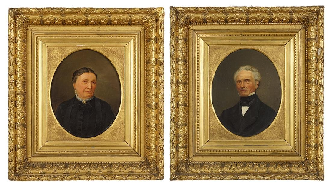 Artist Unknown (American, 19th Century) Portraits of a