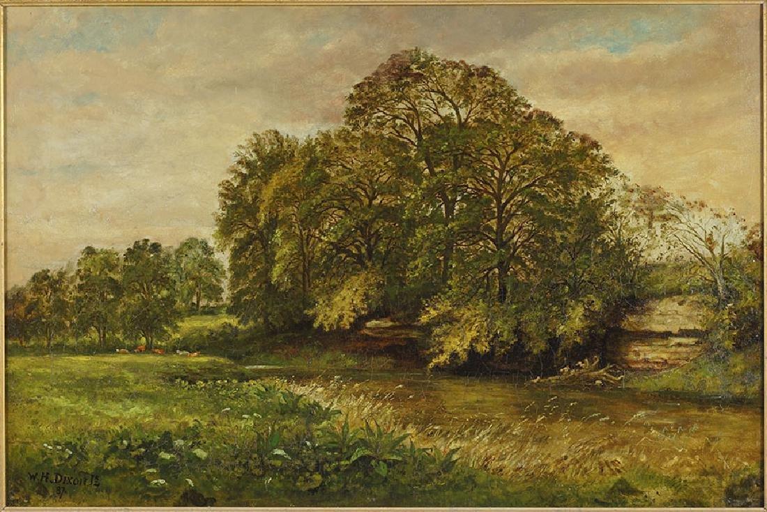 W.H. Dixon Jr. (British, 19th Century) Stream with