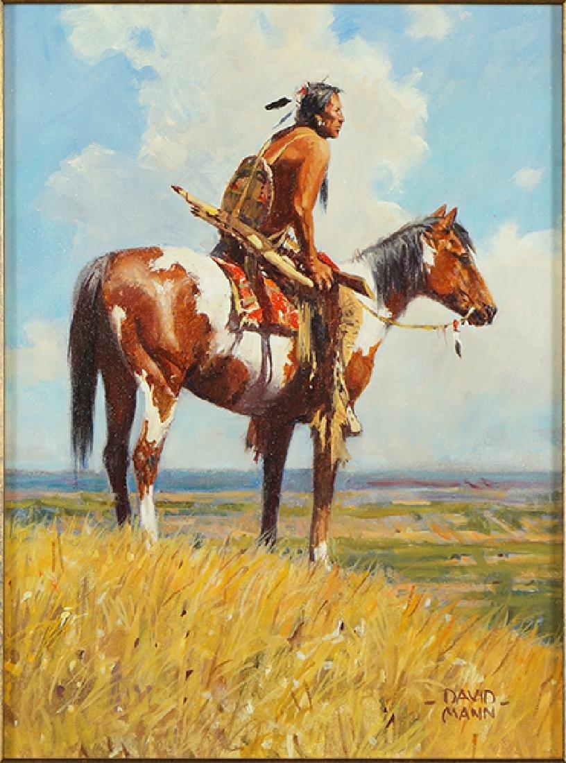 David Mann (American, B. 1948) Scout's Watch.