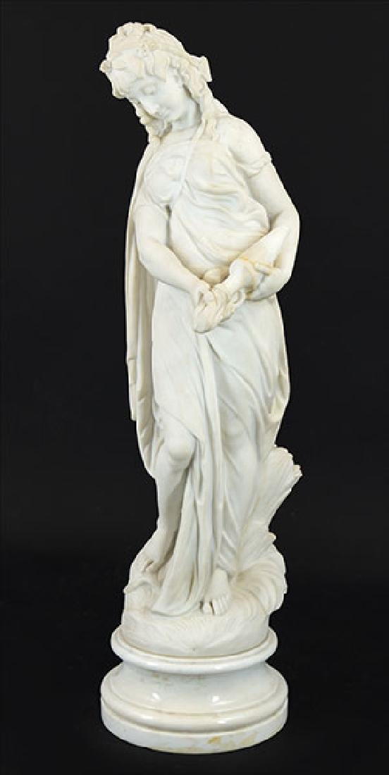 A Continental Carved Marble Sculpture.