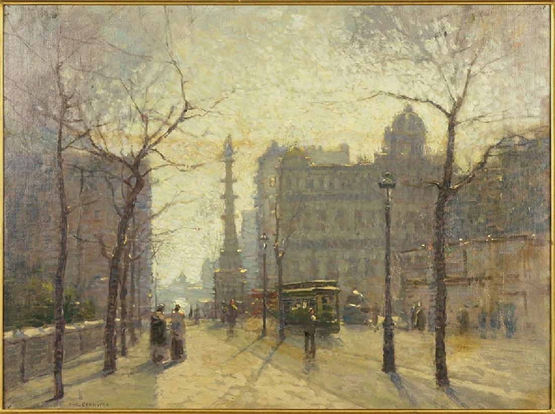 Paul Cornoyer (American, 1864-1923) Columbus Circle,