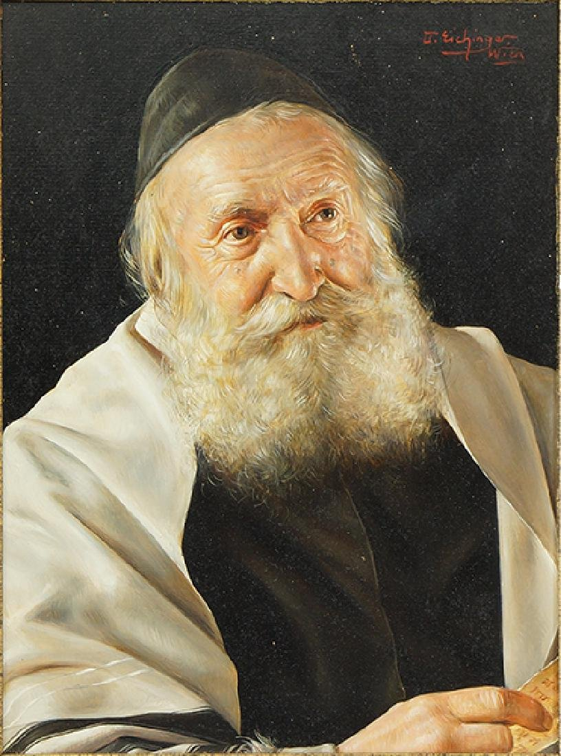 Otto Eichinger (Austrian, 1922-2004) A Rabbi.