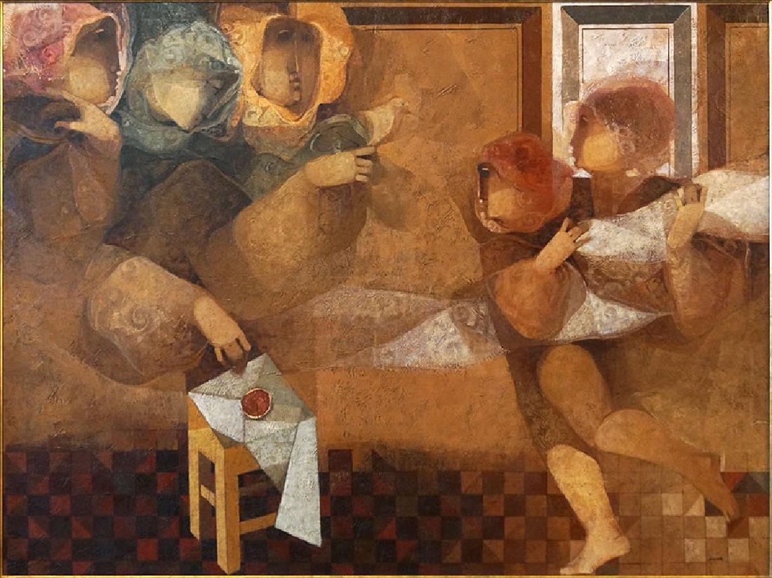 Alvar Sunol Munoz-Ramos (Spanish, B. 1935) Interiores.
