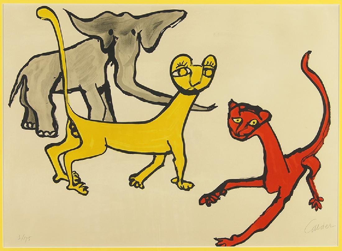 Alexander Calder (American, 1898-1976) Two Cats and an