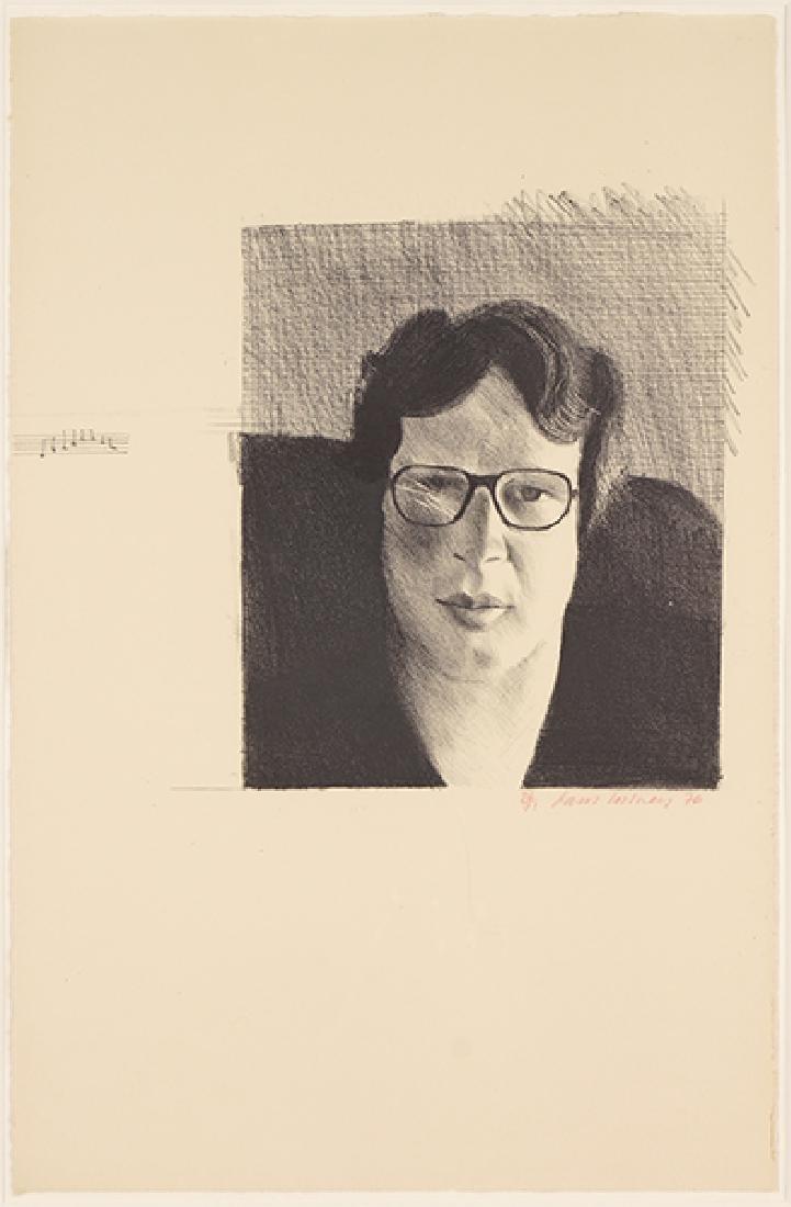 David Hockney (British, B. 1937) Michael Crichton.