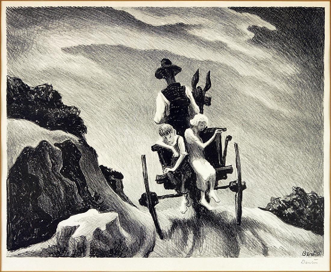 Thomas Hart Benton (American 1889-1975) Goin' Home.