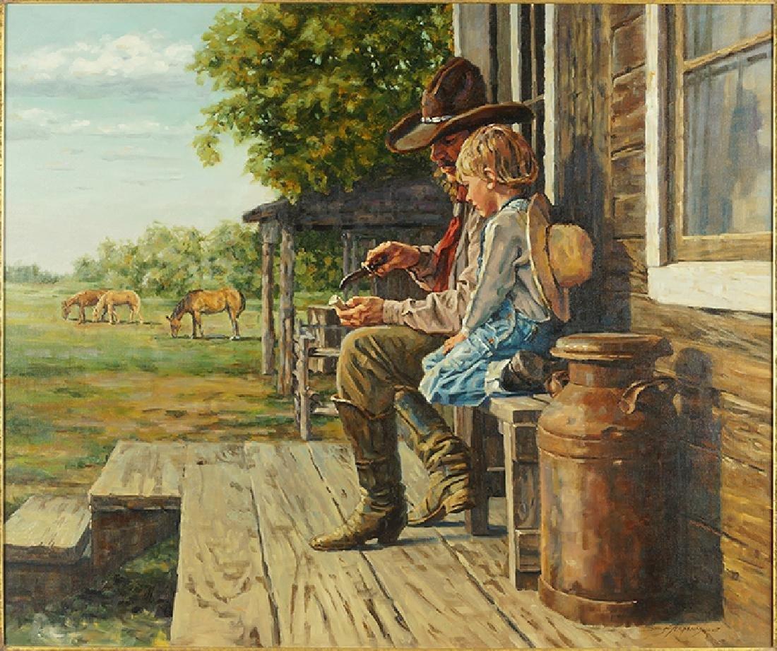 Sonya Terpening (American, B. 1954) The Whistle Carver.