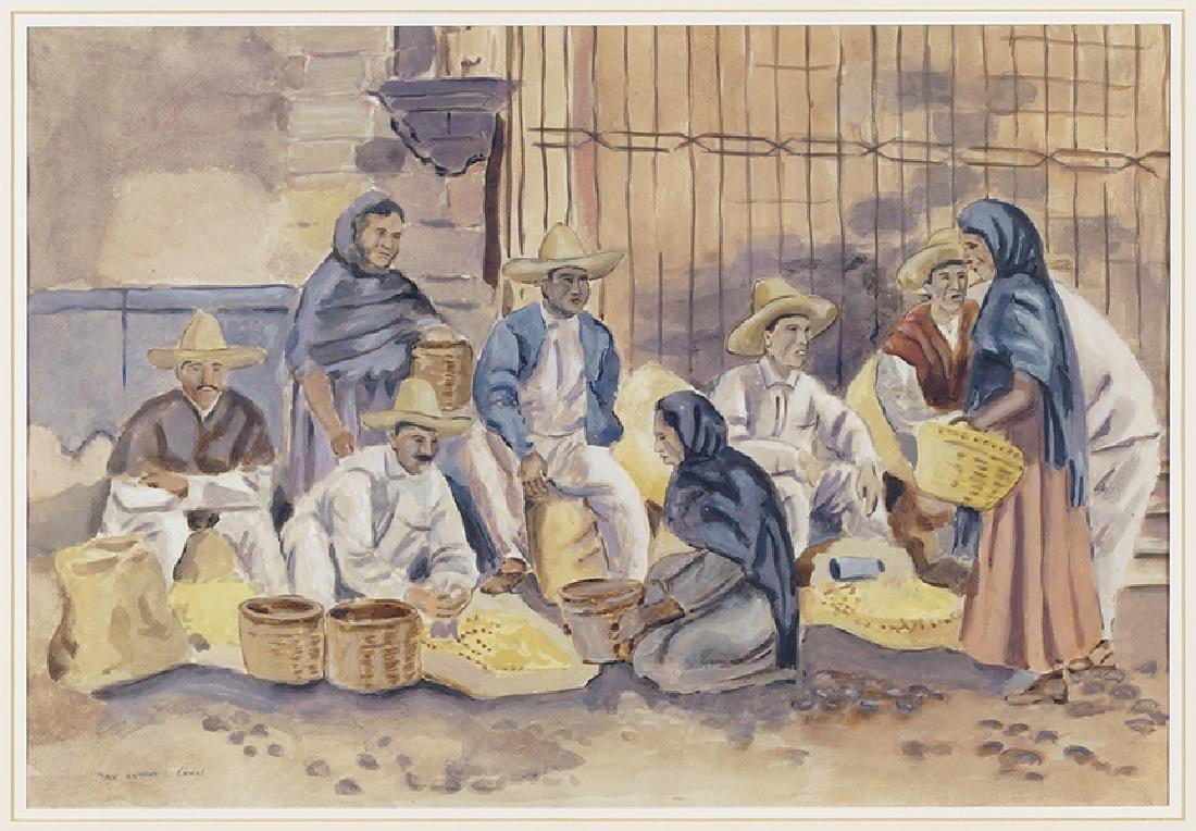 Max Arthur Cohn (American, 1903-1998) Market Scene.