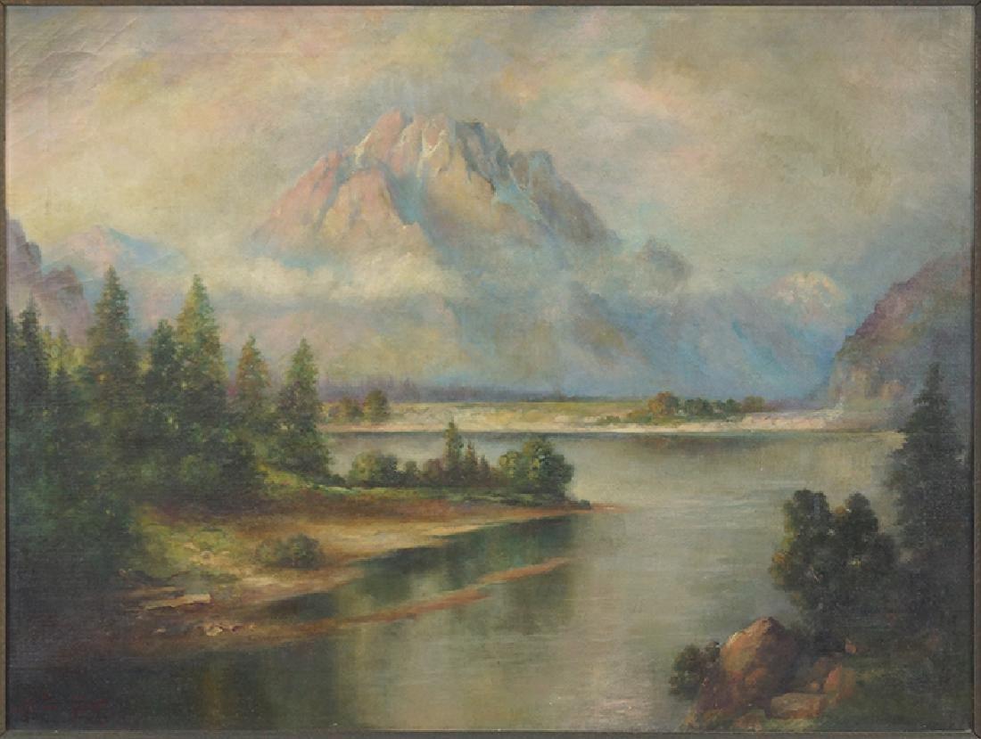 May Ferris Smith (American, 1871 - ?) Mount Moran,