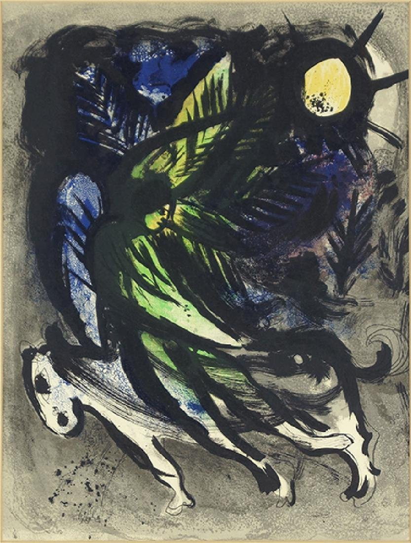 Marc Chagall (Russian/French 1887-1985) L'ange.