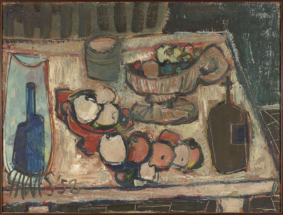 Artist Unknown (American, 20th Century) Still Life.
