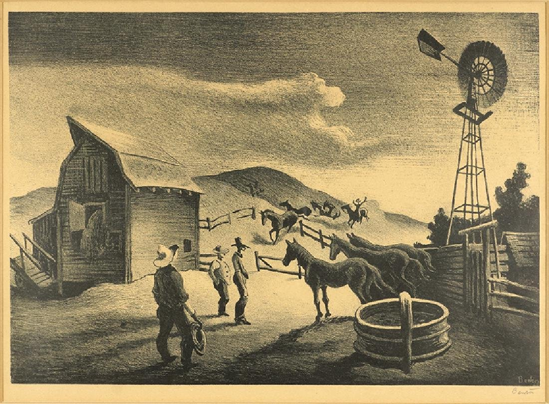 Thomas Hart Benton (American, 1889-1975) The Corral.