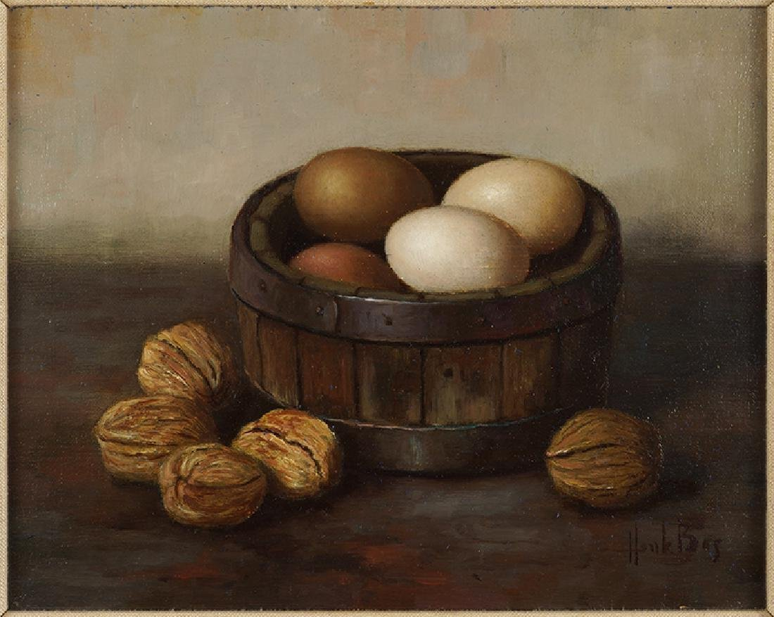 Henk Bos (Dutch, 1901-1979) Eggs and Walnuts.