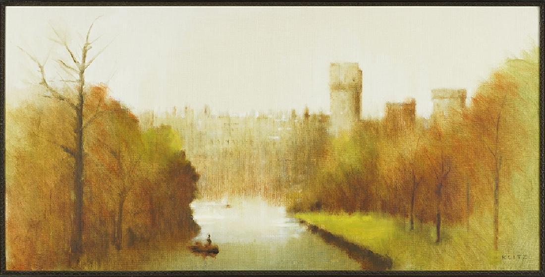 Anthony Robert Klitz (British, 1917-2000) Castle on a