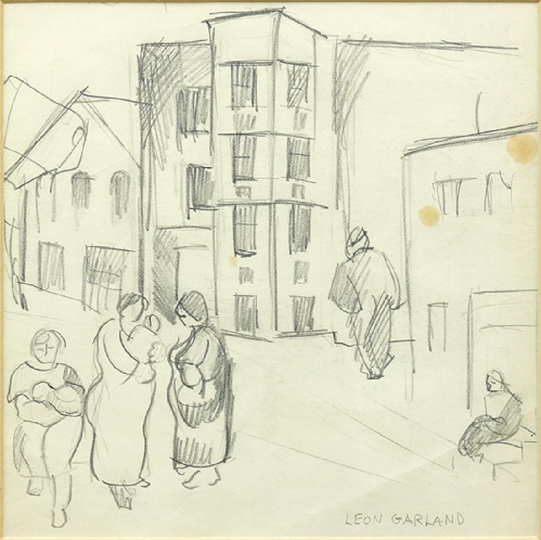 Leon Garland (American, 1896-1941) Town Square.