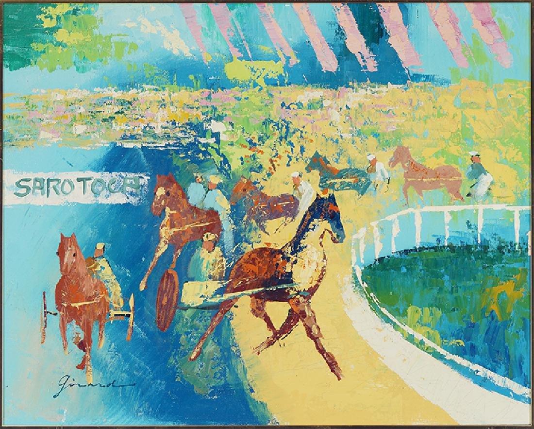 Girard (American, 20th Century) Sulky Race.