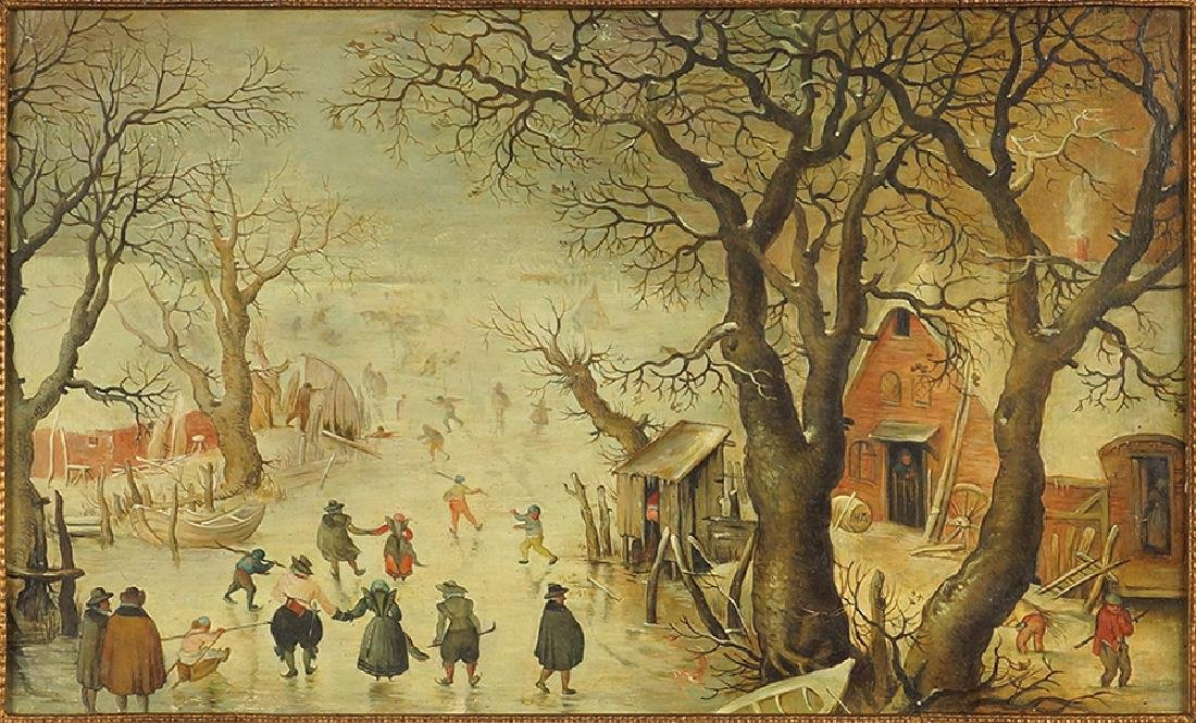 After Hendrick Avercamp (Dutch, 1585-1634) Skating