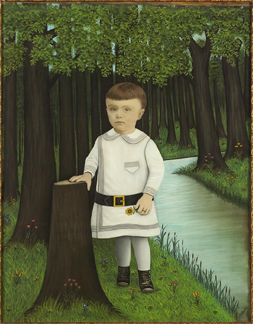 O. Bahr (19th-20th Century) Portrait Of A Boy.
