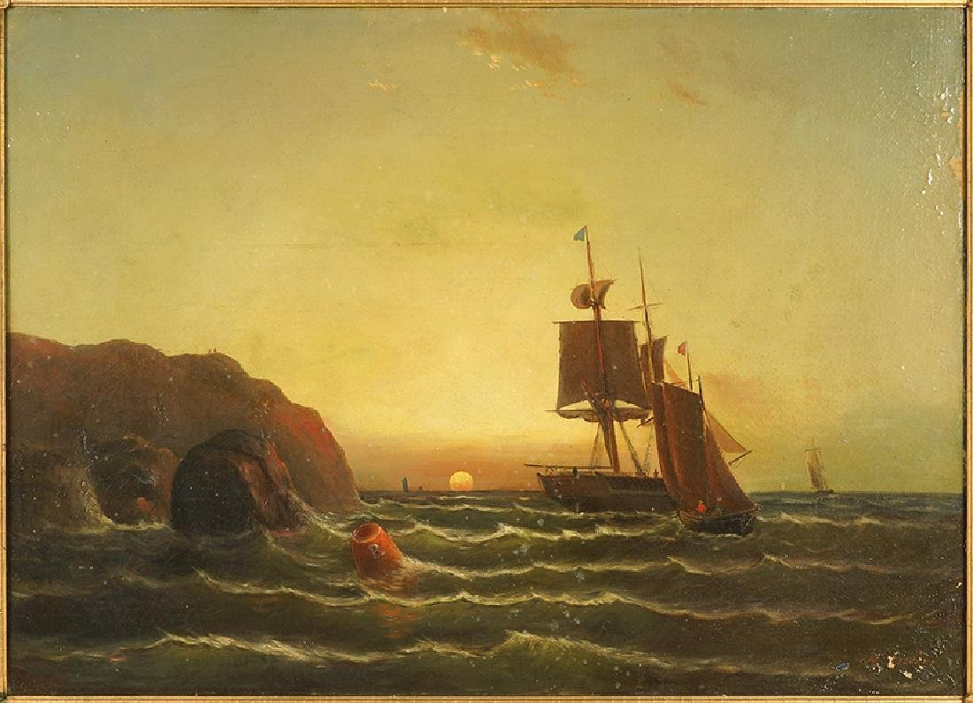 M. Arvin (Continental, 19th Century) Off The Barbary