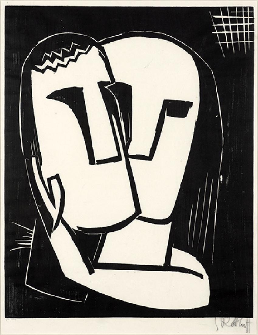Karl Schmidt-Rottluff (German, 1884-1976) Liebspaar.