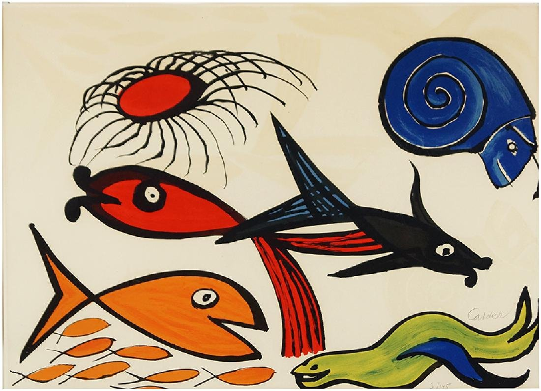 Alexander Calder (American, 1898-1976) Fish in the Sea.