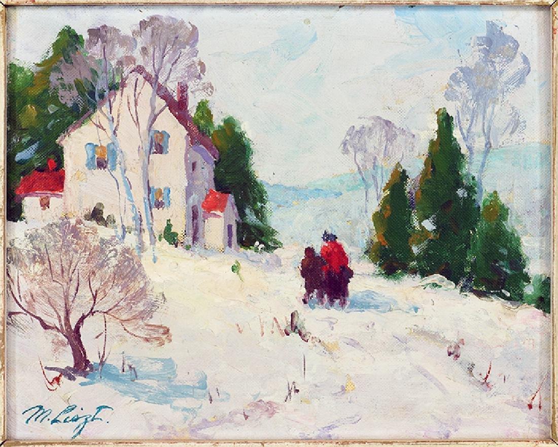 Maria Liszt (American, 1902-1992) Walk in Winter.