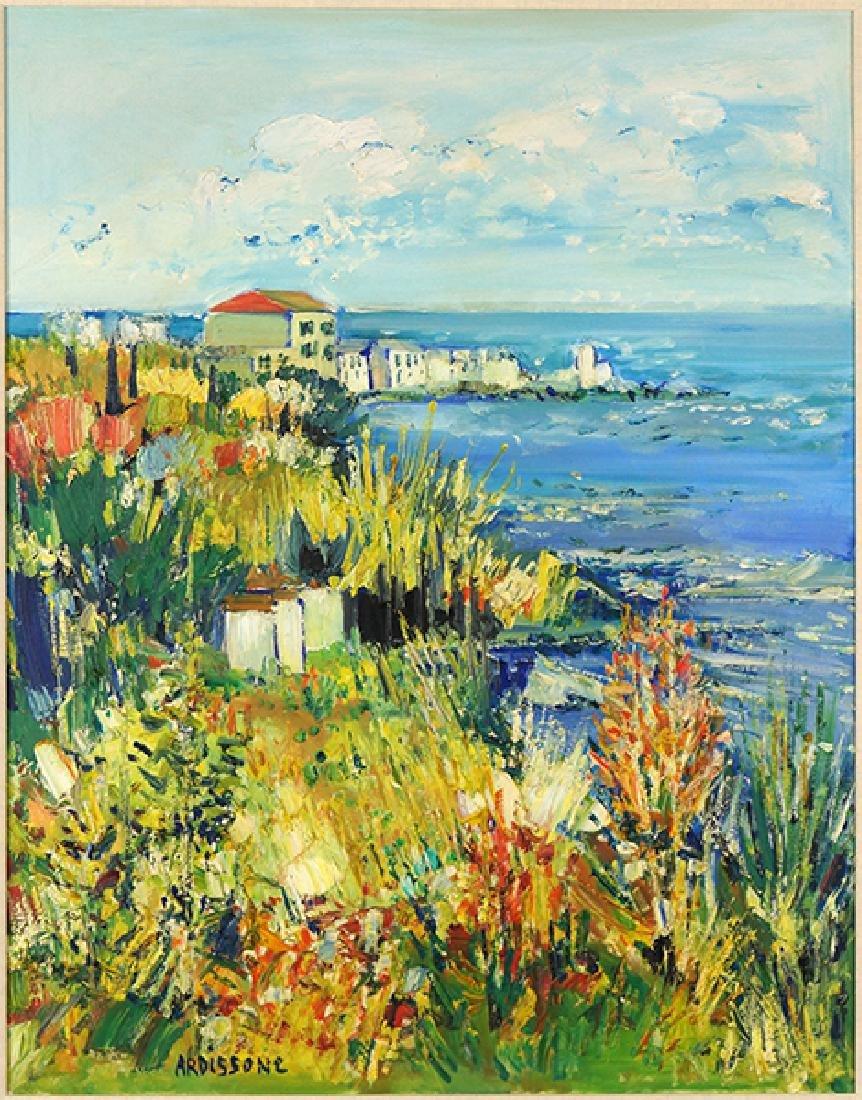 Yolande Ardisonne (French, B. 1927) Coastal Village.