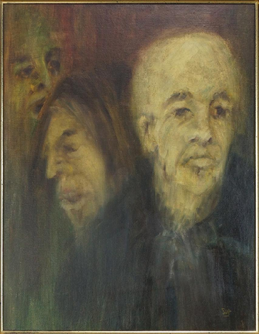 Sue (American, 20th Century) Three Faces.