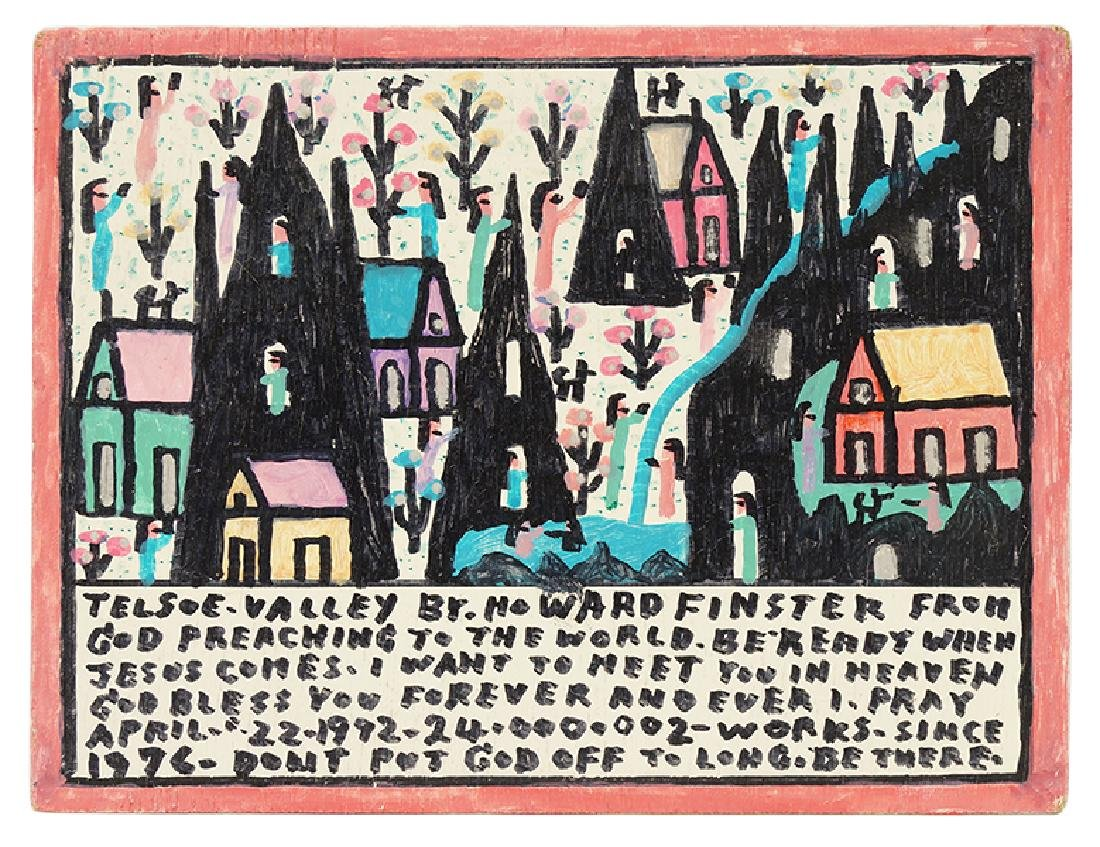 Howard Finster (American, 1916-2001) Telsoe Valley.