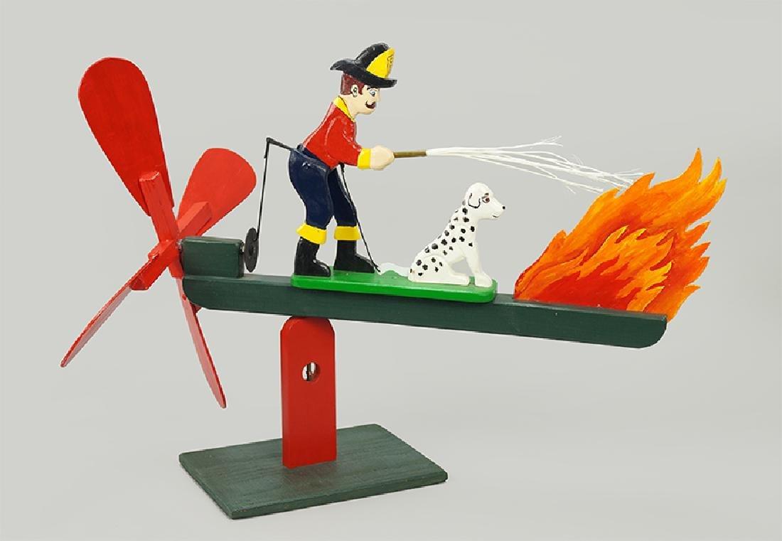 Len Norman, American 20th Century) The Fireman.