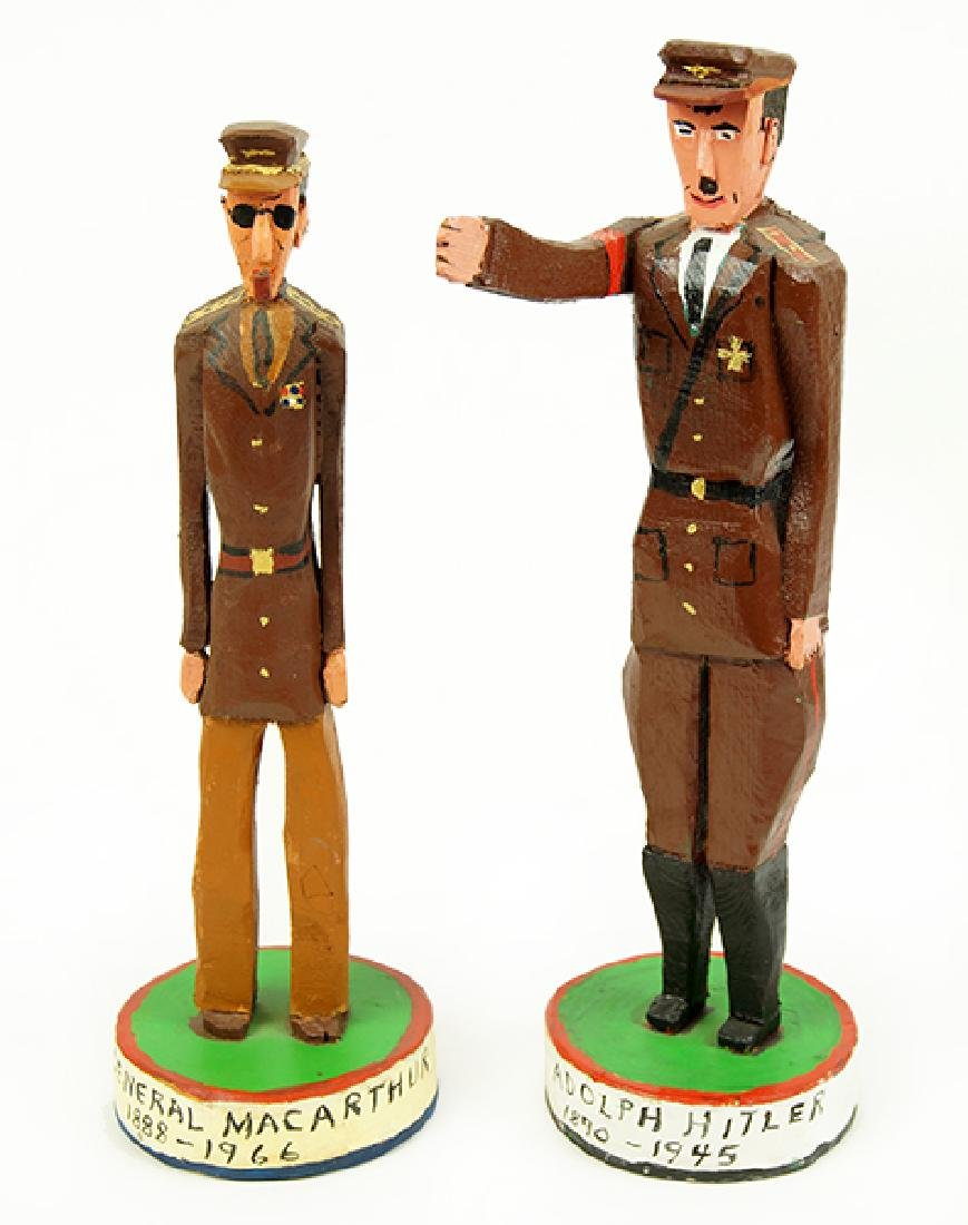 Two Folk Art Military Figures.